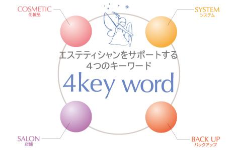 エステティシャンをサポートする4つのキーワード